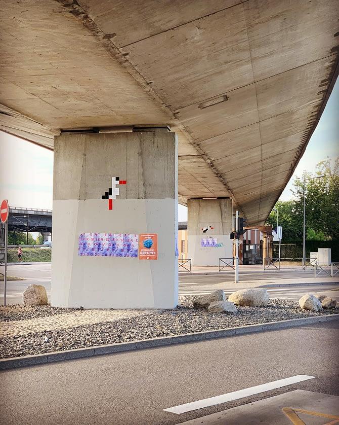 Stork @ Schiltigheim @stork_pixelart #streetart