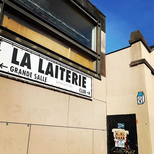 Cigogne Invader #stork7567 #streetart #strasbourg #laiterie #invader #spaceinvader #falseinvader